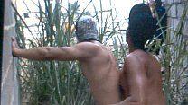 Brasileiros malhados transando no quintal do amigo