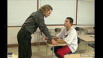 Professor dando amor ao aluno no sexo gay